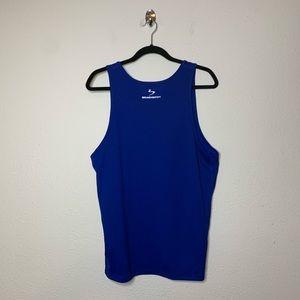 Beachbody Blue Solid Energy Muscle Tank Top
